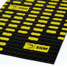 Виброизоляция алюмаст альфа 2 мм, лист 0,5 х 0,8 м, фольга 100 мкм SGM