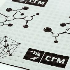 Виброизоляция алюмаст base 4 мм, лист 0,5 х 0,7 м, фольга 60 мкм SGM