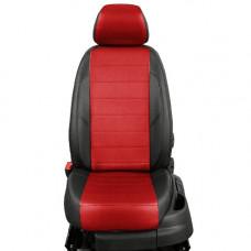 Авточехлы из экокожи на ППУ 5 мм, черный+красный