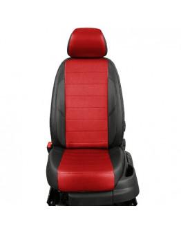 Авточехлы из экокожи на ППУ 5 мм для Hyundai Creta, черный+красный