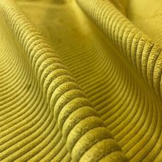 Велюр мебельная ткань для обивки Capri 7, желтая