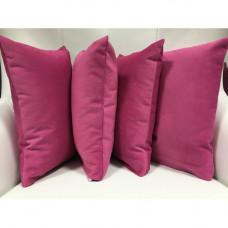 Чехол на подушку 40х40 из велюра amore 105 pink, розовый