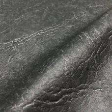Искусственная кожа, кожзам темно-серый декор 252 черная печать