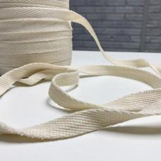 Шнур ХБ-8515 15мм белый плоский 50м
