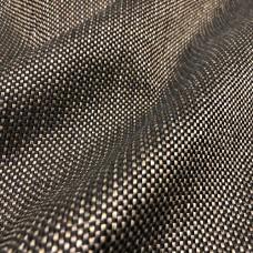 Рогожка мебельная обивочная ткань для мебели черно-коричневая крафт 45