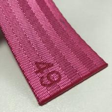 Лента ремня безопасности 49 розовая