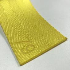 Лента ремня безопасности 79 желтая