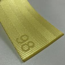 Лента ремня безопасности 98 бледно-желтая