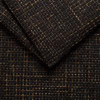 Рогожка обивочная ткань для мебели magma 17 brown-black, коричнево-черный
