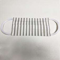 Маска защитная для лица многоразовая из хлопка, на резинках, без фиксатора, бежевая