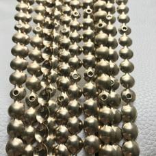 Гвоздевой молдинг 11 мм,  золото упаковка 10 шт +гвозди для крепежа