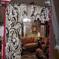 Набор покрывал на диван и кресла флора бежевый (1шт. 150х200 + 2шт. 60х150см) гобелен романтика