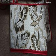 Набор покрывал на диван и кресла лилии бежевый (1шт. 150х200 + 2шт. 60х150см) гобелен романтика