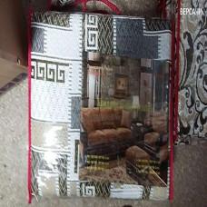 Набор покрывал на диван и кресла версаче бежевый (1шт. 150х200 + 2шт. 60х150см) гобелен романтика