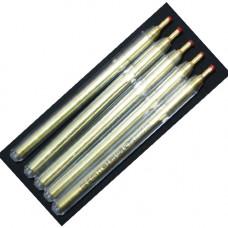 Ручка шариковая разметочная серебро (по коже)