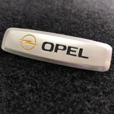 Шильдик для автоковриков opel глянцевый цветной