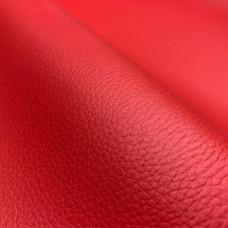 Искусственная кожа, кожзам красная гладкая ультра 803