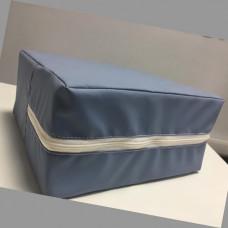 Медицинский кожзам сине-серый