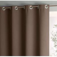Блэкаут интерьерная ткань для штор и портьер, негорючая нить, термотрансфер, 300 см, коричневый