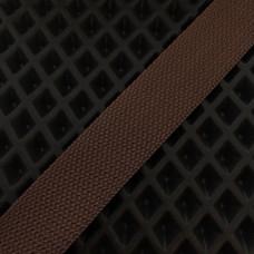 Лента окантовочная стропа для ковриков коричневая