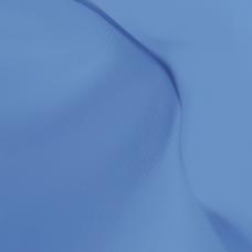 Таффета негорючая, термотрансфер, голубой филин