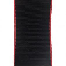 Лента ремня безопасности 103 черная с красным